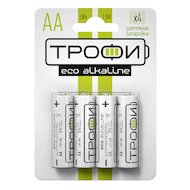 Батарейка Трофи AA 4шт. Alkaline ECO (LR6-4BL)
