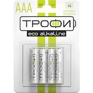 Батарейка Трофи AAА 4шт. Alkaline ECO (LR03-4BL)
