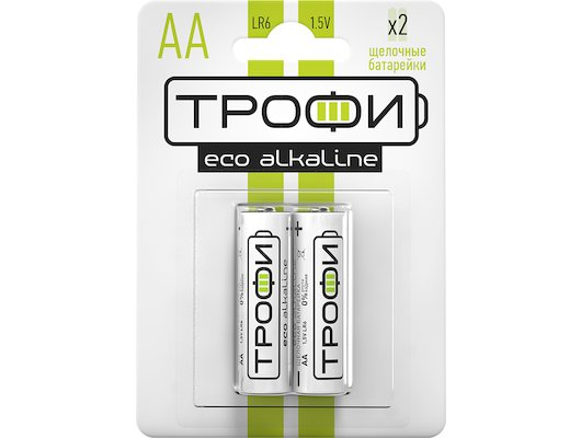 Батарейка Трофи AA 2шт. Alkaline ECO (LR6-2BL)