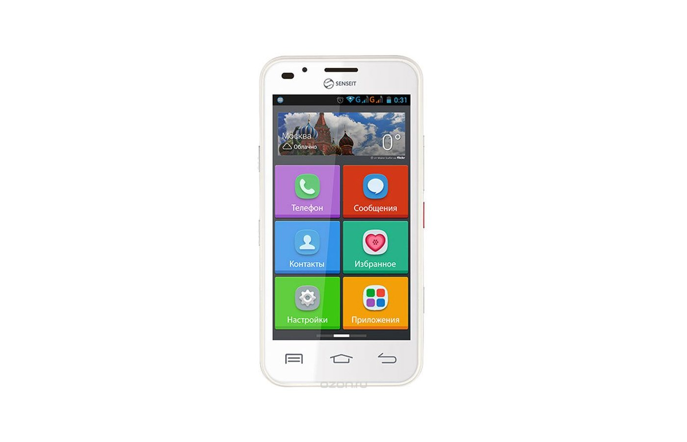 Смартфон SENSEIT L301 White