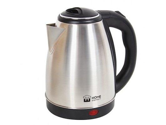 Чайник электрический  HOME ELEMENT HE-KT147 черн/сталь