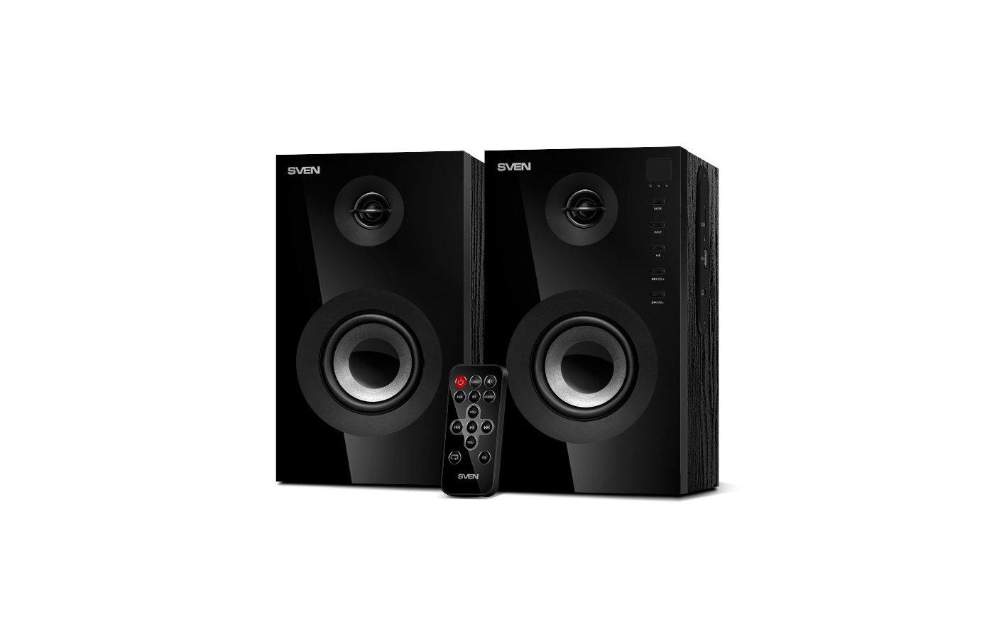 SVEN SPS-615 2.0 черный 20Вт беспроводные BT