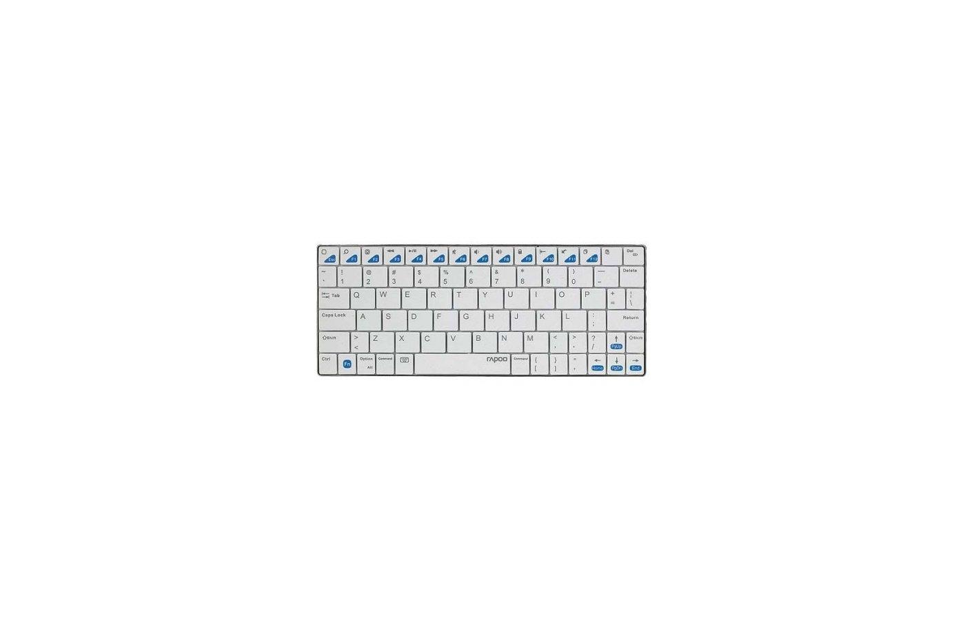 Клавиатура для планшетного ПК Rapoo E6300 белый беспроводная BT