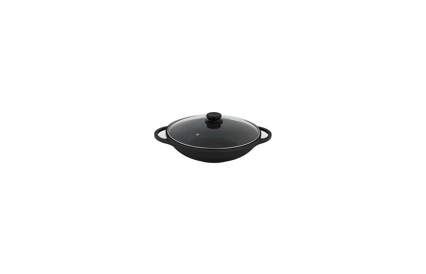 Казан SATOSHI 846-309 Профи Вок-казан литой с антипригарным покрытием d32см индукция BSW032