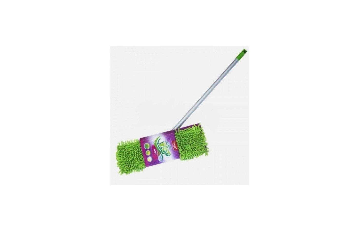 Инвентарь для уборки PACLAN GREEN MOP SOFT ШВАБРА С ПЛОСКОЙ НАСАДКОЙ ШЕНИЛЛ И ТЕЛЕСКОПИЧЕСКОЙ РУЧКОЙ, 1 ШТ.