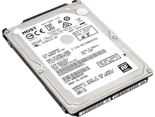"""Жесткий диск HGST SATA-III 1Tb HTS721010A9E630 Travelstar 7K1000 (7200rpm) 32Mb 2.5"""""""