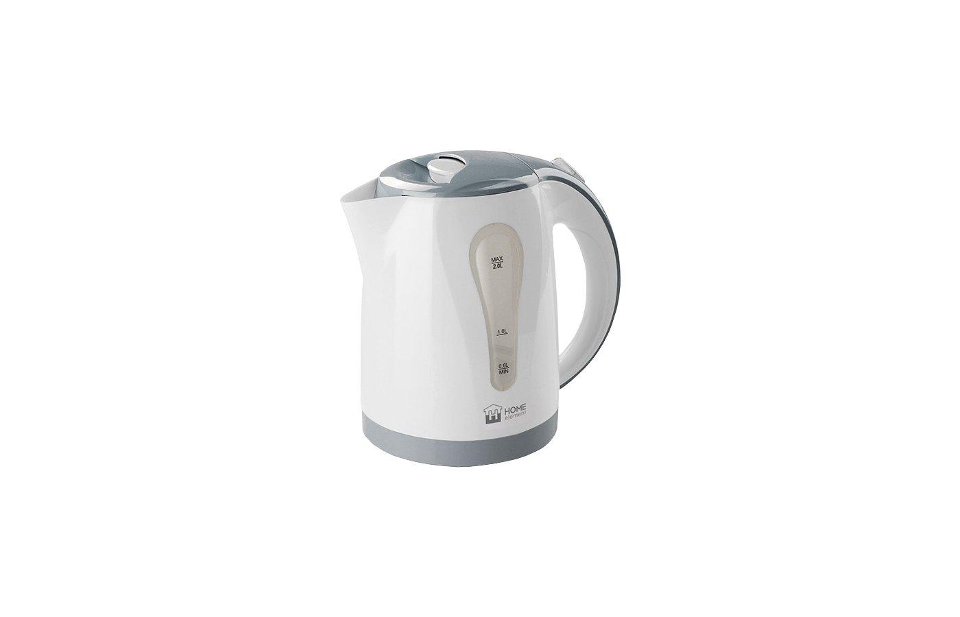 Чайник электрический  HOME ELEMENT HE-KT156 бел/серый