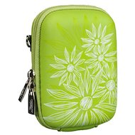 Фото Сумка для фотоаппарата Riva 7023 (PU) Digital Case green (flowers)
