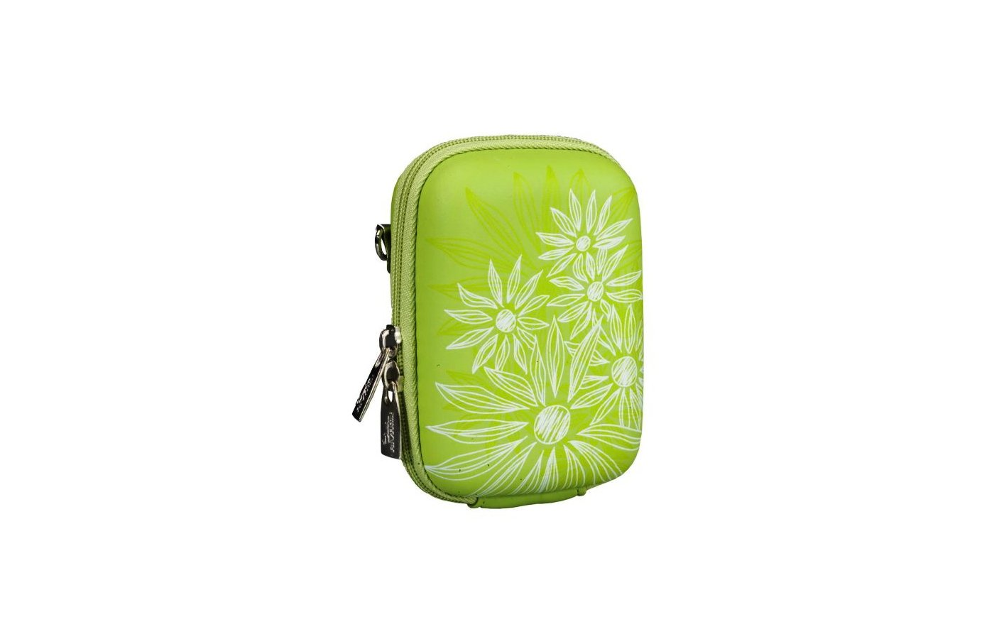 Сумка для фотоаппарата Riva 7023 (PU) Digital Case green (flowers)