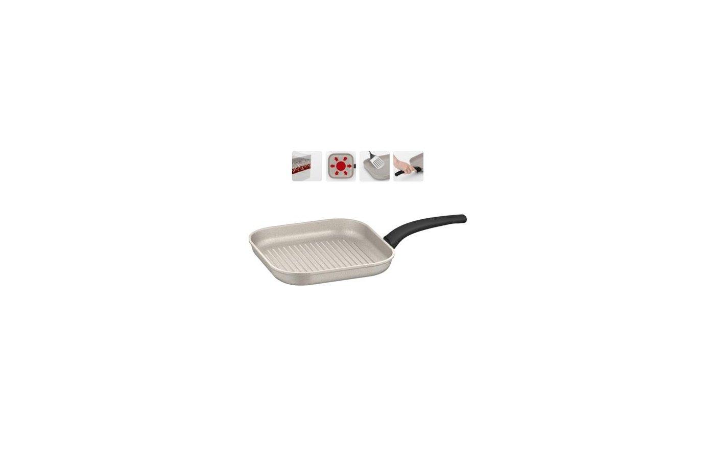 Сковорода - гриль Nadoba 26 см гриль MARMIA   с 5 слойн покр. + индукц. 728320