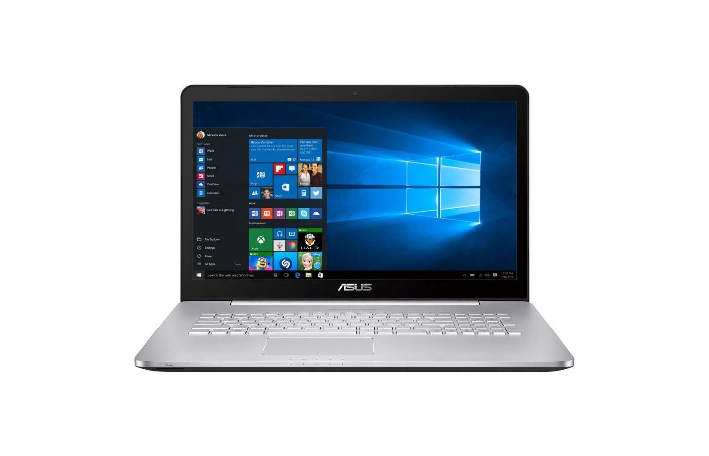 Ноутбук ASUS N752VX-GC277T /90NB0AY1-M03350/ intel i7 6700HQ/16Gb/1000Gb/DvDRW/GTX 950M 4Gb/17.3FHD/WiFi/Win