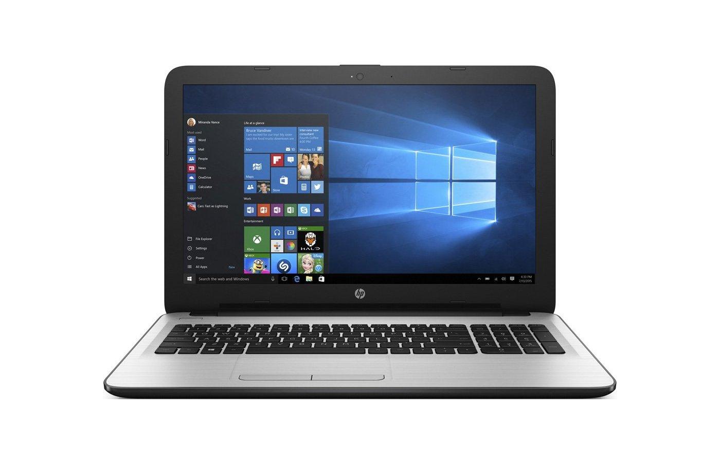 Ноутбук HP 15-ba502UR /Y5M19EA/ AMD E2 7110/4Gb/500Gb/15.6/WiFi/Win10 (White)