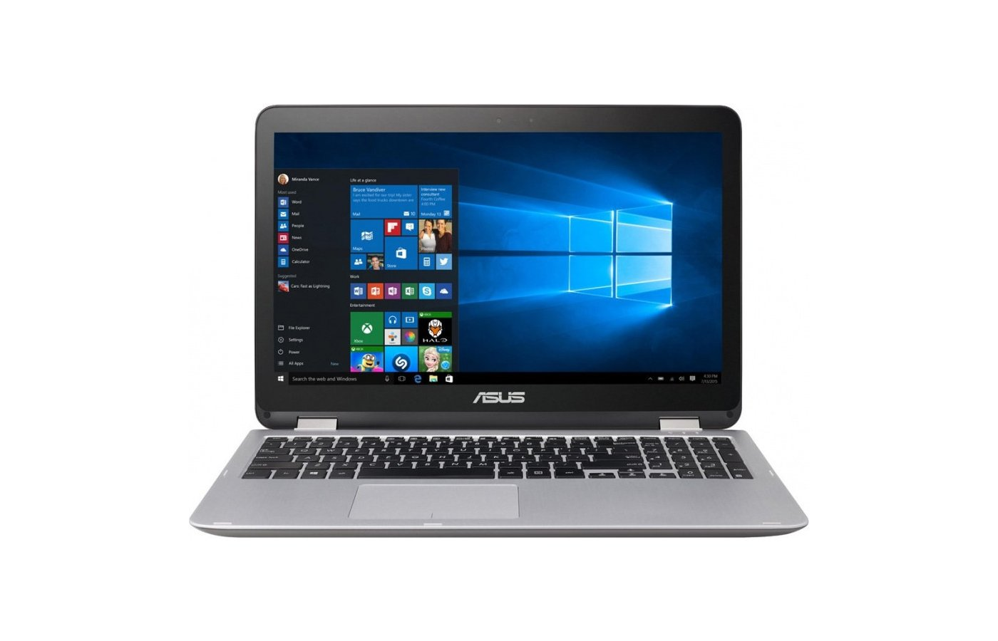 Ноутбук ASUS TP501UQ-DN035T Transformer /90NB0CV1-M00790/ i7 6500U/8Gb/1Tb/GTX 940M 2Gb/15.6FHD/Touch/Win10