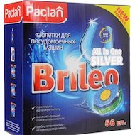Таблетки для ПММ PACLAN 419170 BRILEO ALL IN ONE 56шт