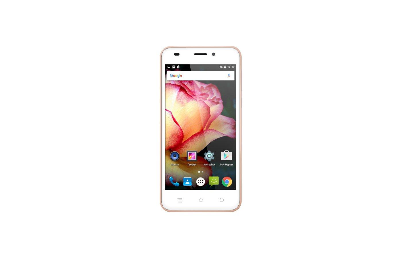 Смартфон TeXet TM-5017 розовое золото