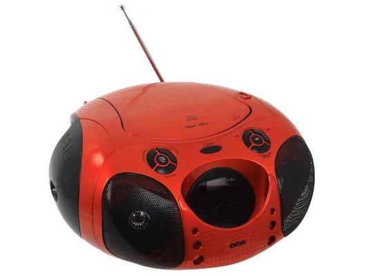Магнитола BBK BX-110U оранжевый/черный