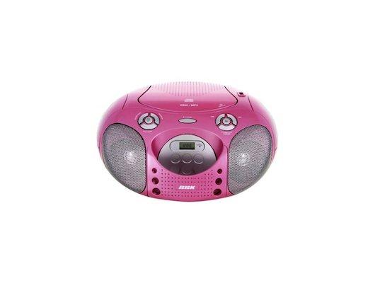 Магнитола BBK BX-110U розовый/серебристый