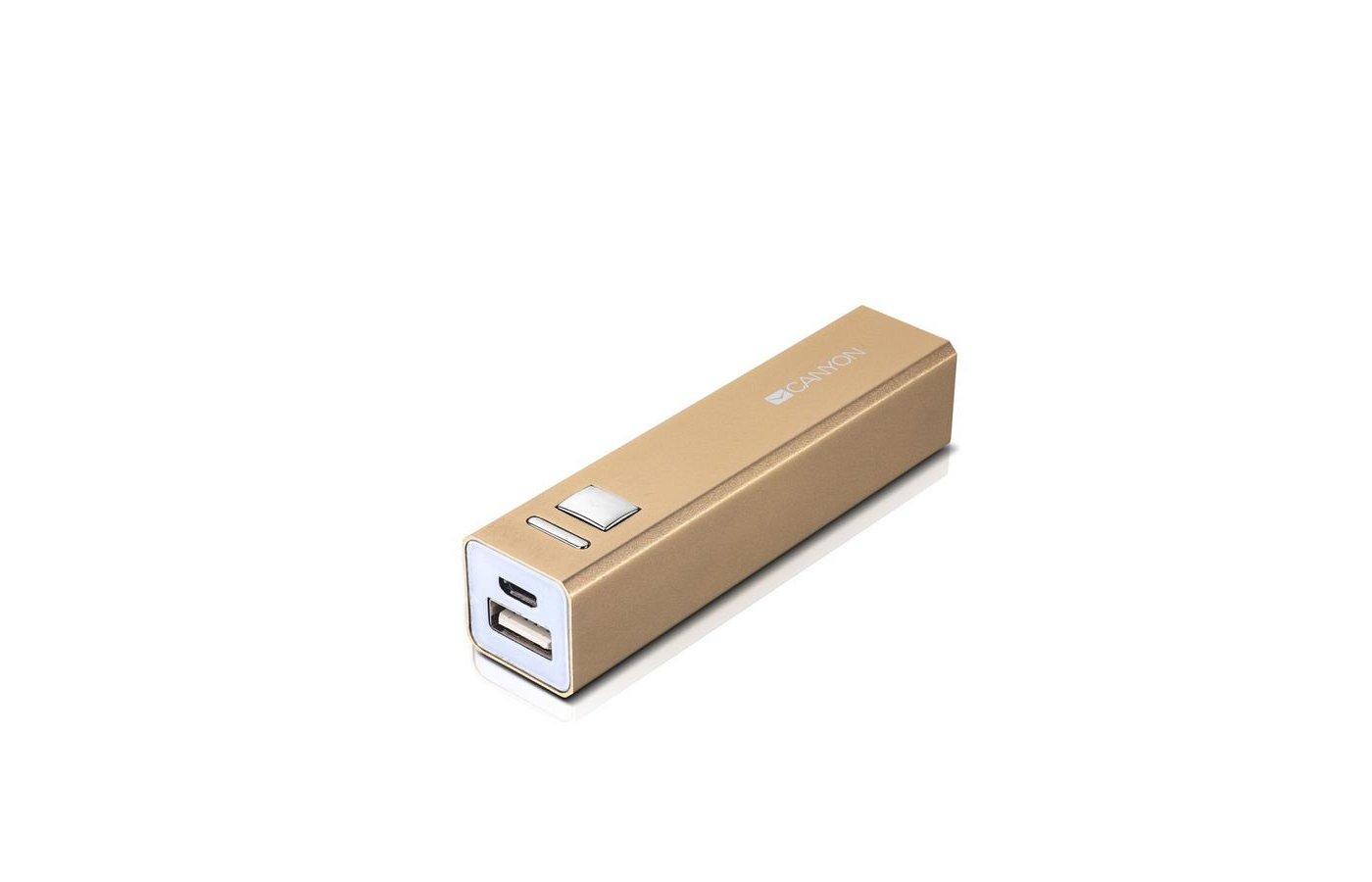 Портативный аккумулятор CANYON CNE-CSPB26GO 2600mAh золотой