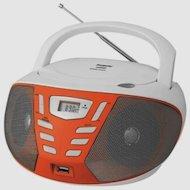 Магнитола BBK BX-193U белый/оранжевый