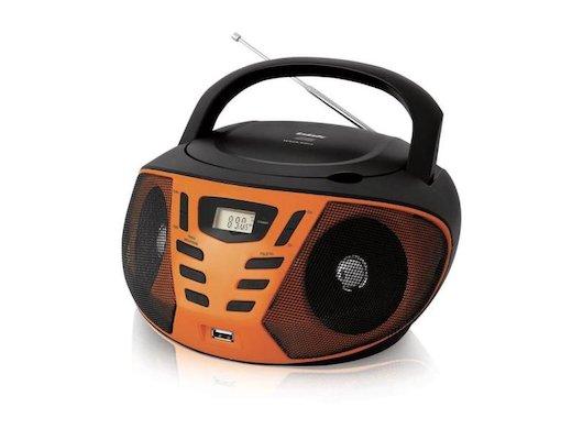 Магнитола BBK BX-193U черный/оранжевый