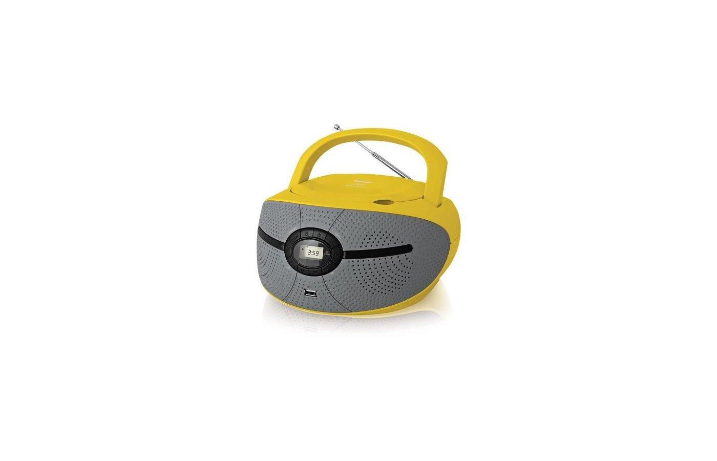 Магнитола BBK BX-195U желтый