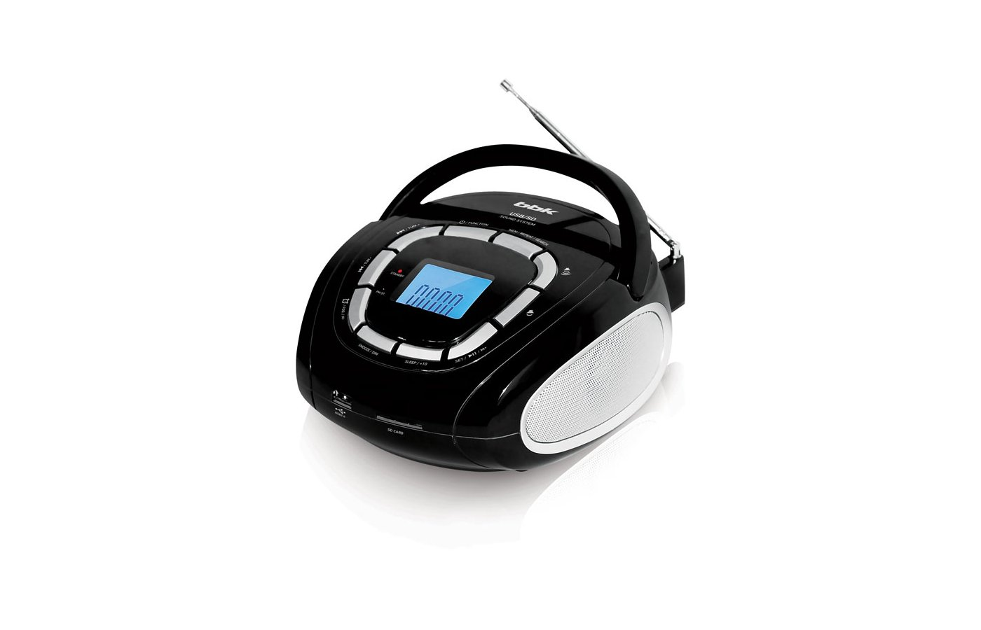 Магнитола BBK BS05 черно-серебристый