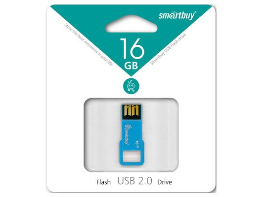 Флеш-диск USB 2.0 SmartBuy 16GB sb16gbbiz-bl