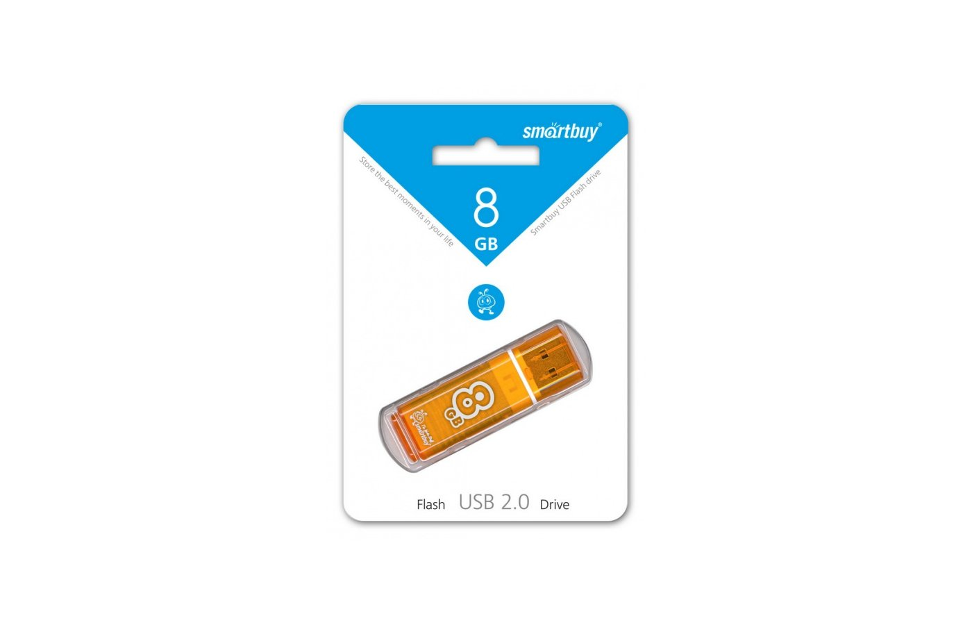 Флеш-диск USB 2.0 SmartBuy 8GB sb8gbgs-or