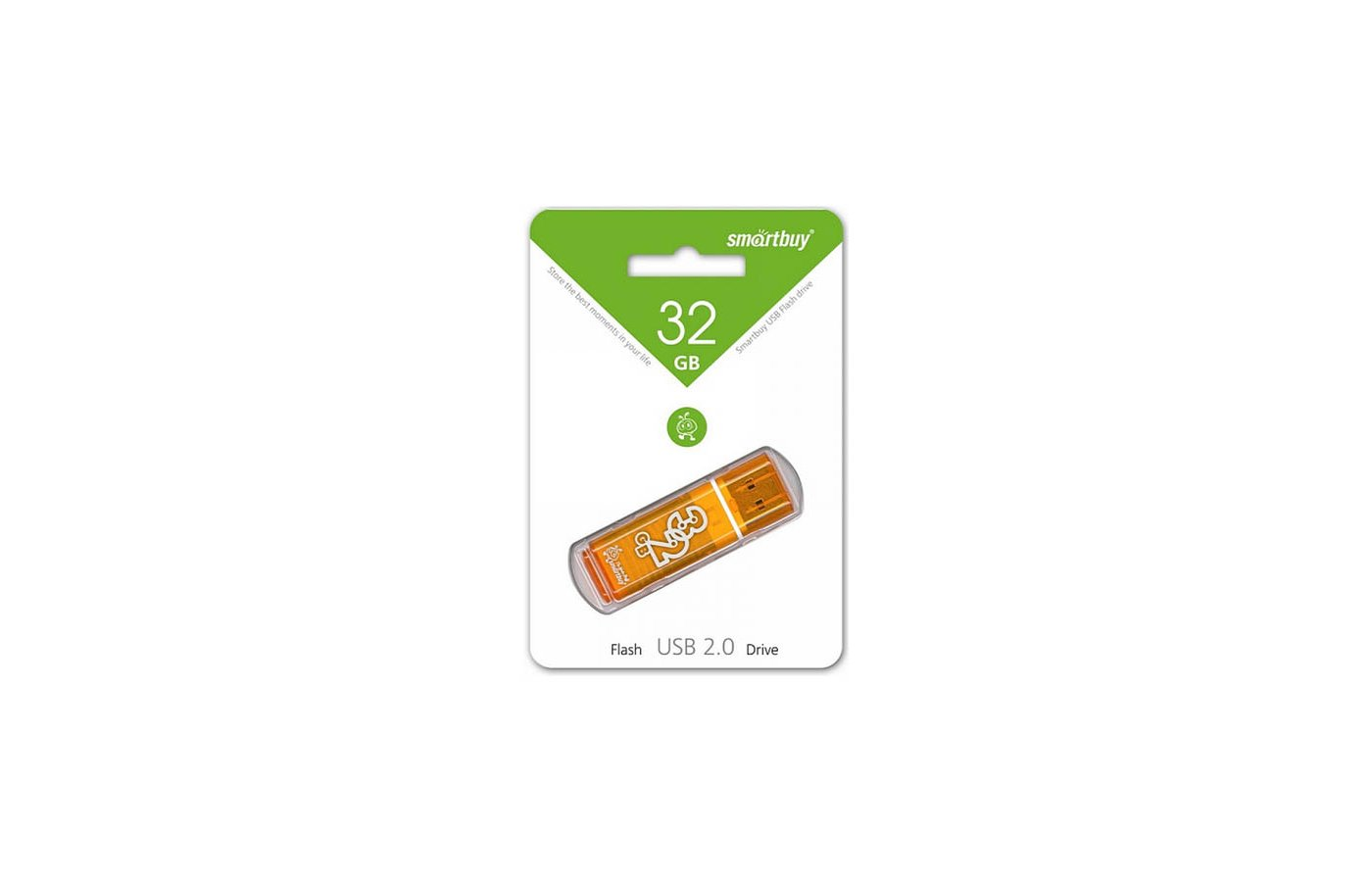 Флеш-диск USB 2.0 SmartBuy 32GB sb32gbgs-or