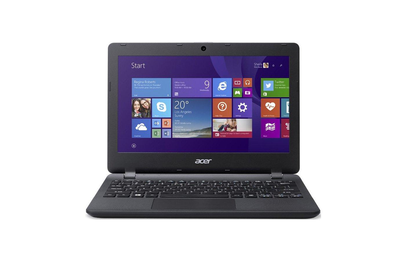 Нетбук Acer ES1-131-C9Y6  /NX.MYGER.006/ intel N3050/2Gb/32GB/11.6/WiFi/Win10 Black
