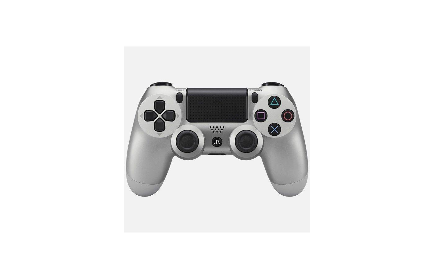 PS4: Контроллер игровой беспроводной серебряный (Dualshock 4 Cont: CUH-ZCT1E: SCEE)
