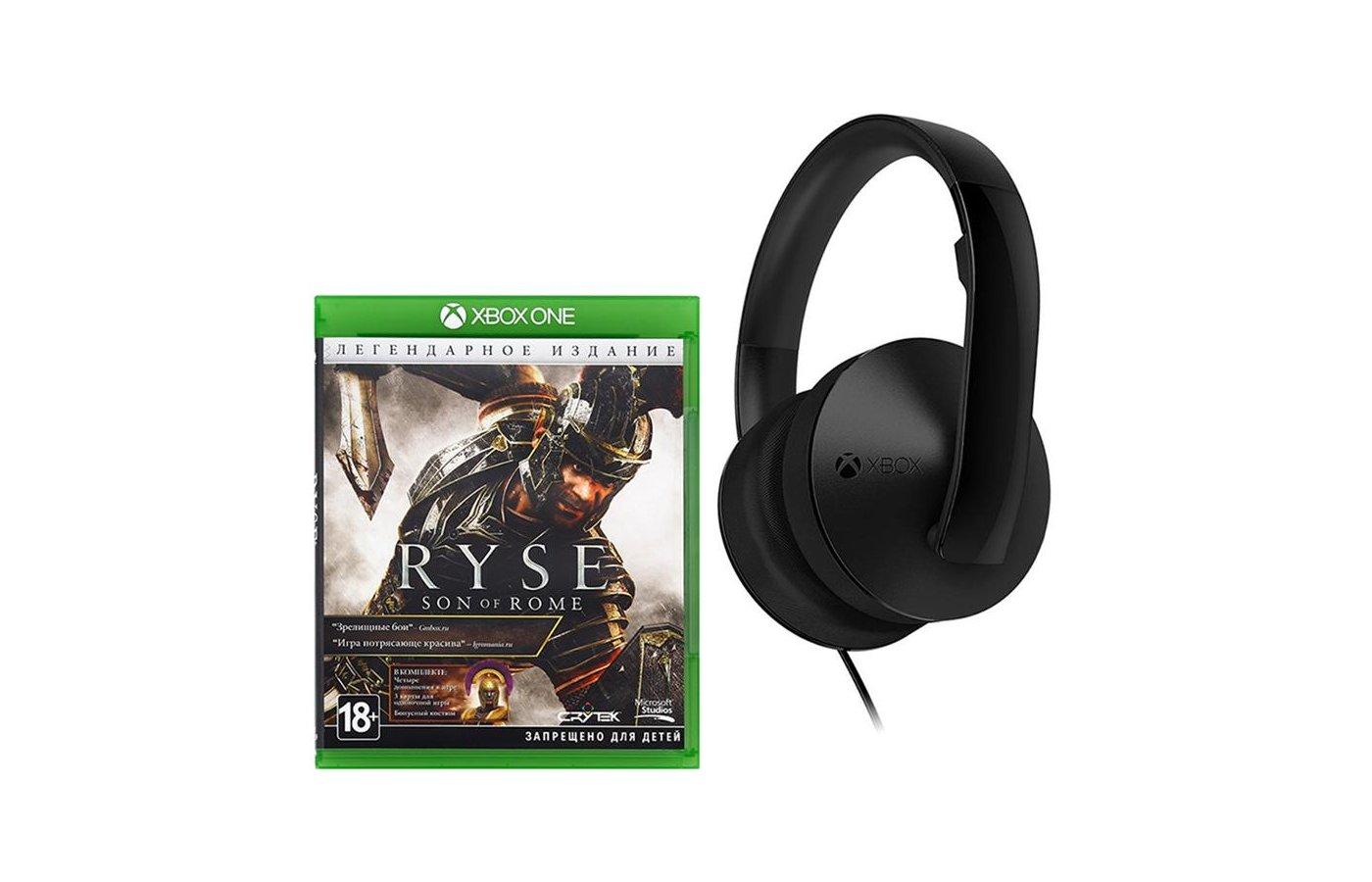 Стерео-гарнитура для Xbox One + игра Ryse Legendary