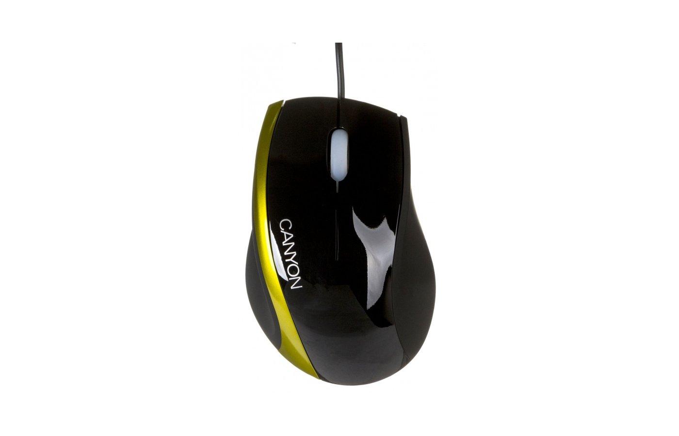Мышь проводная CANYON CNR-MSO01NG USB Black-Green