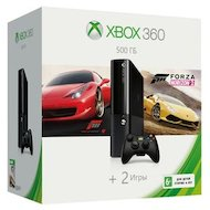 Фото Microsoft Xbox 360 500 ГБ памяти + Forza Horizon 2 + Forza 4 (3M4-00043-f4)