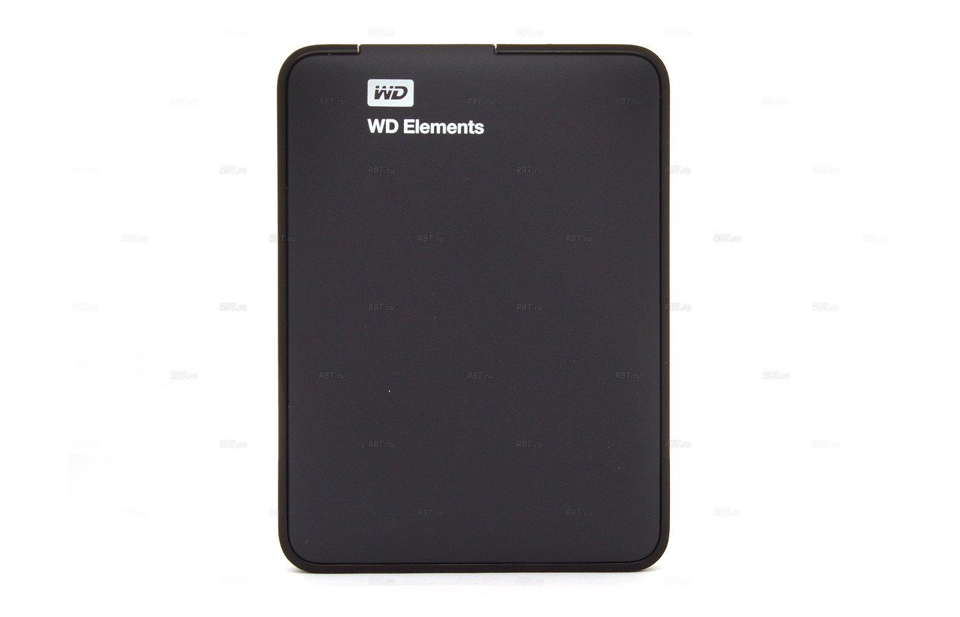 Внешний жесткий диск Western Digital (WDBUZG0010BBK-EESN) USB 3.0 1Tb Elements 2.5 черный