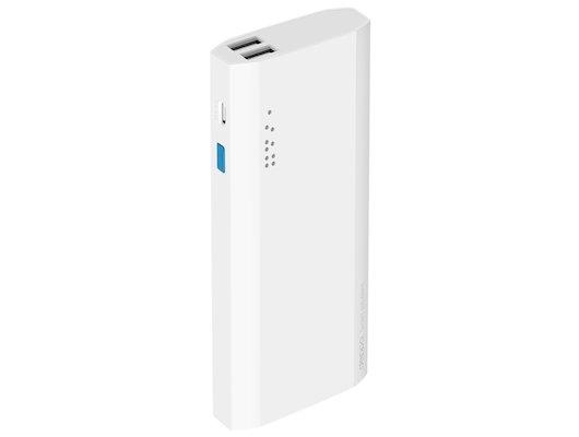 Портативный аккумулятор Deppa NRG power 13000 mAh, белый 2.1А