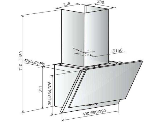 Вытяжка ELIKOR Рубин S4 90П-700-Э4Г антрацит/стекло черное