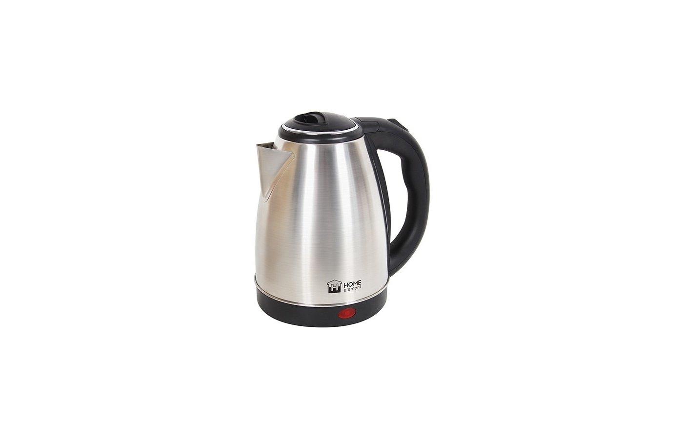 Чайник электрический  HOME ELEMENT HE-KT151 черн/сталь