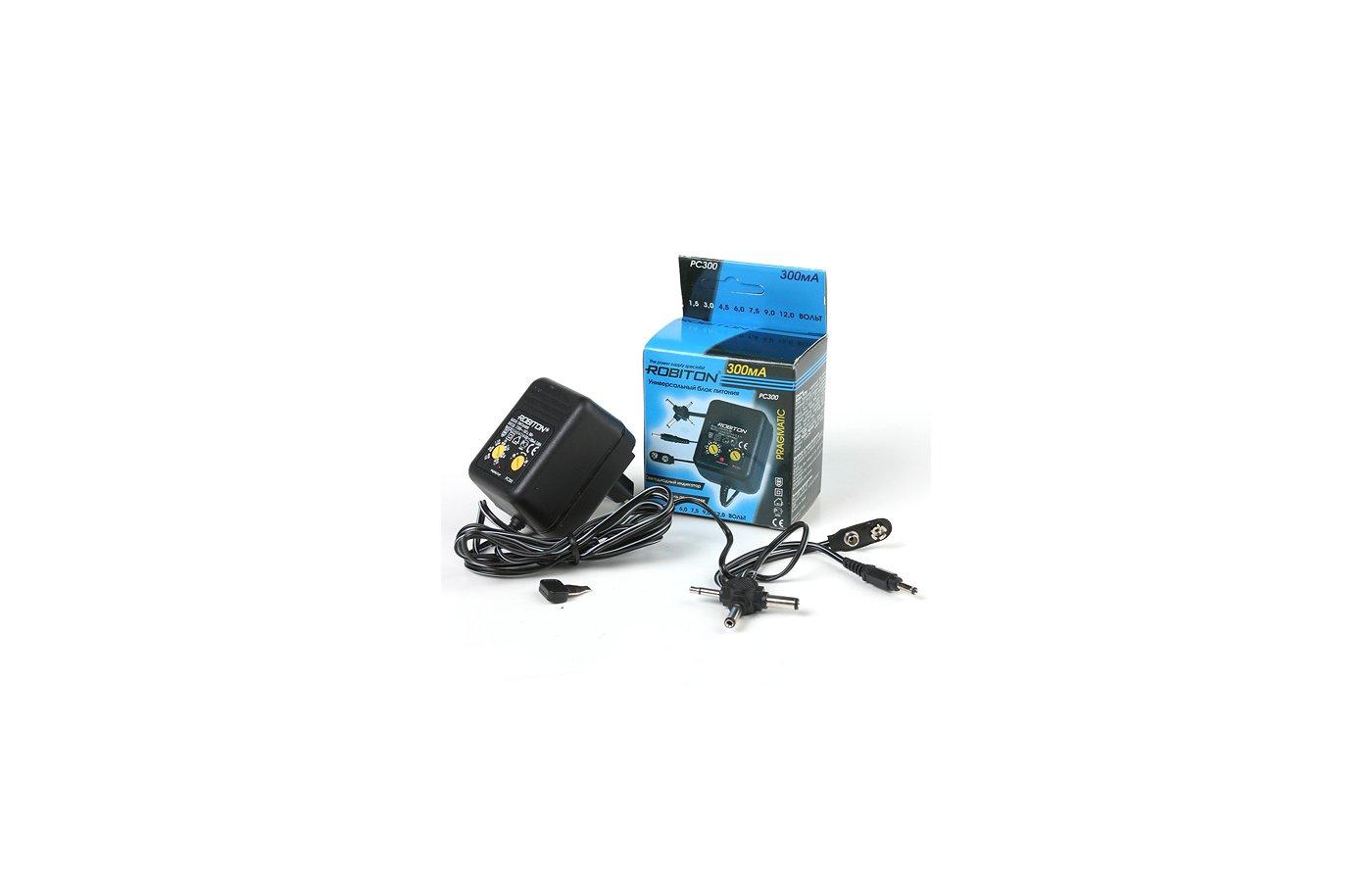 Сетевой адаптер для ноутбука ROBITON PC1000 (1.5-12В 1000 мА)
