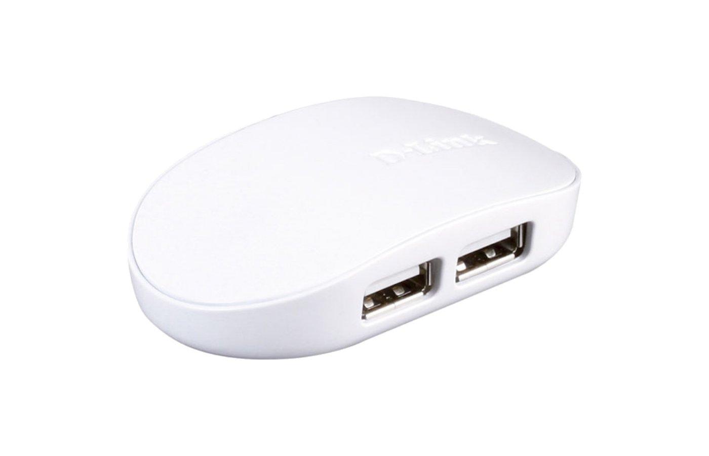 Разветвитель D-Link DUB-1040 4порт. USB 2.0 белый