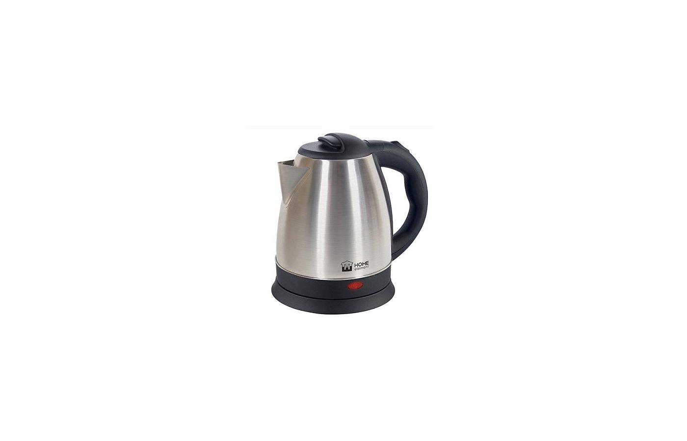 Чайник электрический  HOME ELEMENT HE-KT157 черн/сталь