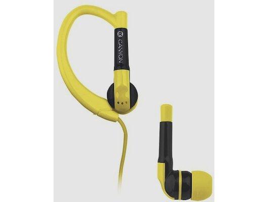 Наушники спортивные CANYON SEP1Y yellow (sport)