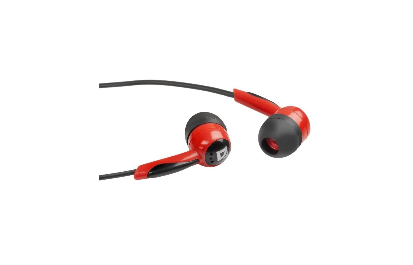 Наушники вкладыши Defender Basic 604 черный/красный