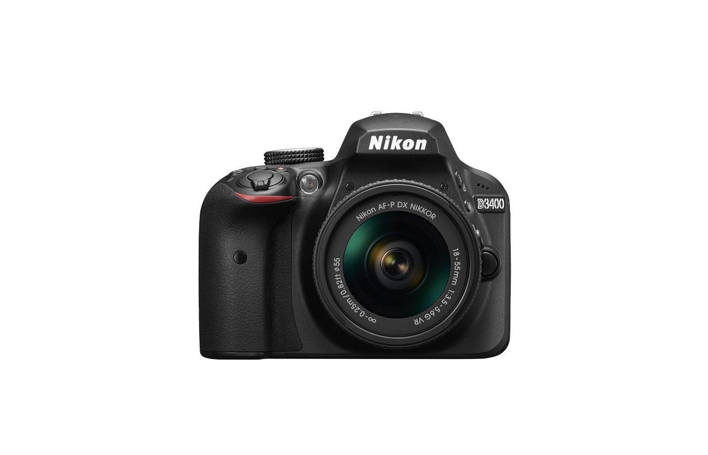 Фотоаппарат зеркальный Nikon D3400 AF-P 18-55 II (DX) black