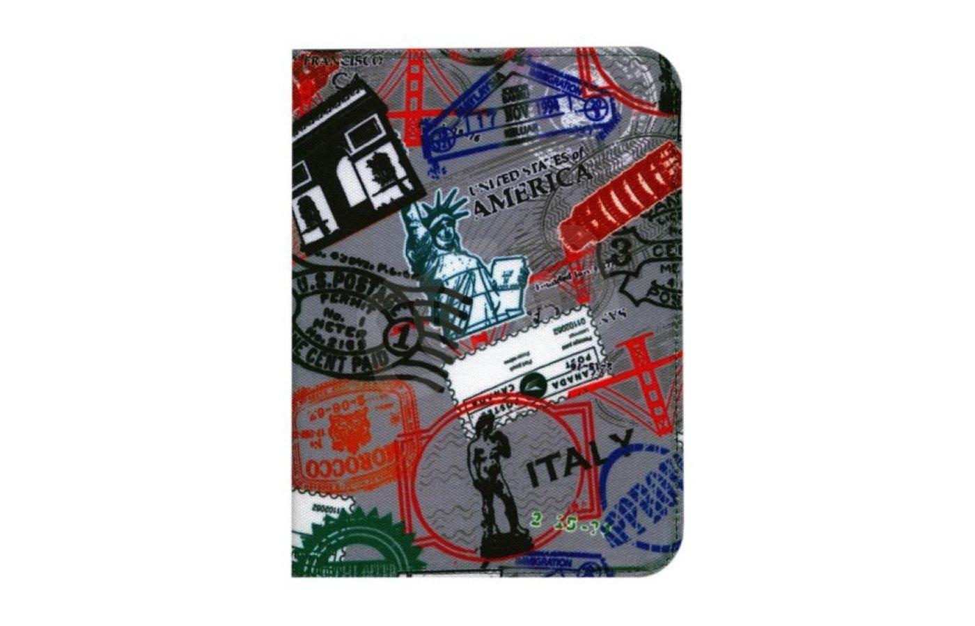 Чехол Обложка Pocketbook для 602/603/612 ткань с рисунком