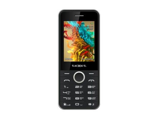 Мобильный телефон TeXet TM-301D черный-серебристый