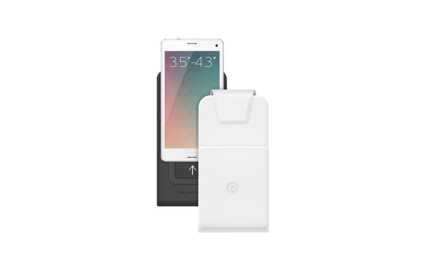 Чехол Чехол для смартфонов Flip Slide S 3.5-4.3 белый
