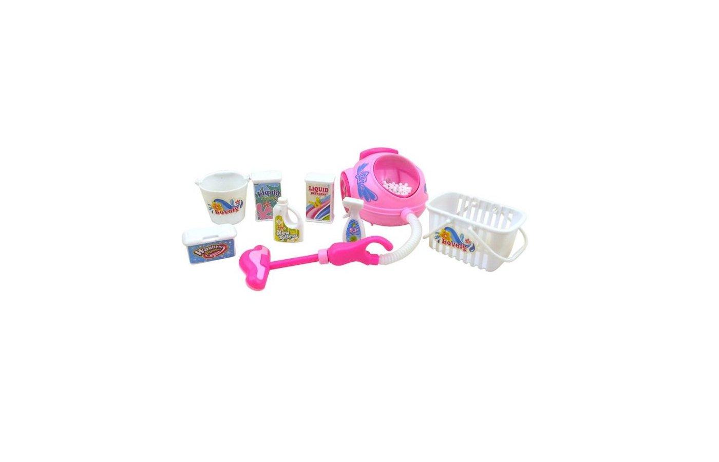Игрушка KRUTTI 1855 KS01-2 пылесос и предметы для уборки