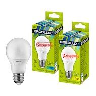 Фото Лампочки LED Ergolux LED-A60-9W-E27-3K (Эл.лампа светодиодная ЛОН 9Вт E27 3000K 172-265В)