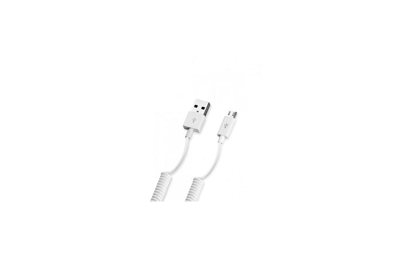 Кабель Deppa microUSB витой 1.5м. белый  (72122)